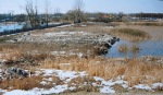 Zasypywanie gruzem i odpadami powiększanie działki – jezioro Roś