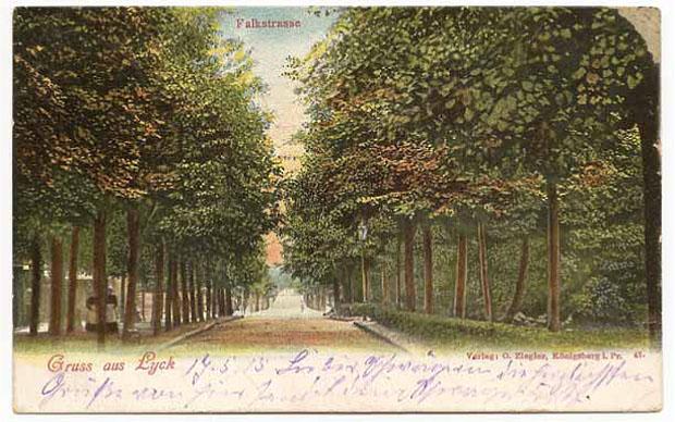 Poczwórna aleja (allée doublée) w Ełku prowadziła kiedyś do parku miejskiego. Ze zbiorów W. Kujawskiego