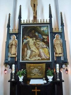 Ołtarz wykonany królewskiego stolarza Franke. Fot. K. Worobiec