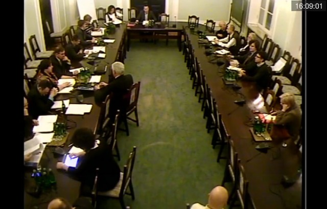 Transmisja z komisji