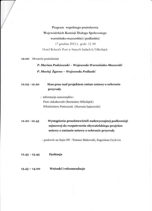 Program Komisji Dialogu Społecznego