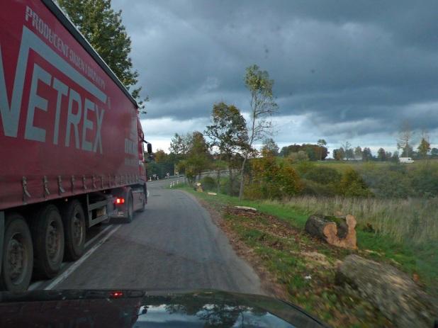 Droga krajowa 59 koło Mrągowa Fot. K.Worobiec