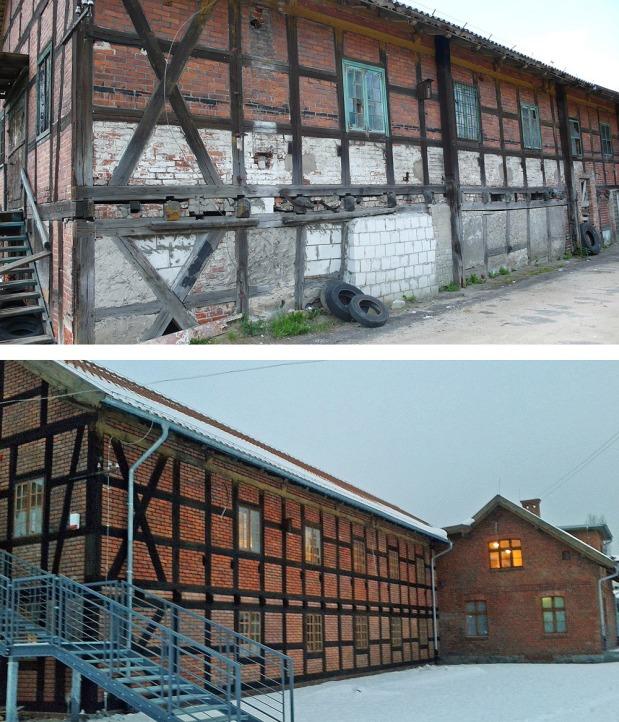 Tartak Raphaelsonów w 2007 i 2014 roku. Fot. K.A. Worobiec