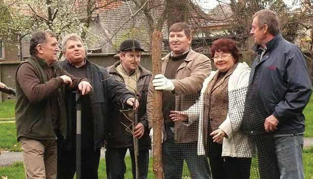 Samorządowcy i przedsiębiorcy znad Baryczy posadzili dęby w parku w Cieszkowie (Fot. arch.)