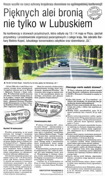 """""""Gazeta Lubuska"""" 24-25.05.2008 (Fot. alei: M. Kapała)"""