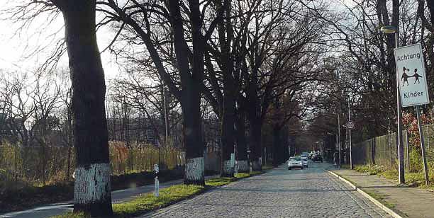 Berlin – aleja i tradycyjny bruk. (Fot. K. A. Worobiec)