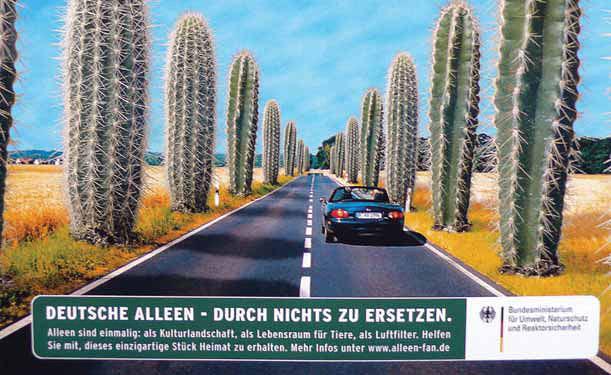 """Plakat """"Aleje nie do zastąpienia"""" – kampania medialna Ministerstwa Środowiska RFN"""